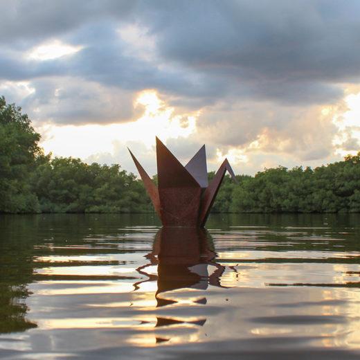Patina Origami Crane